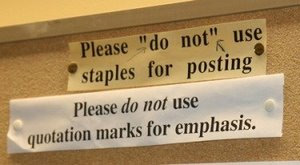 """Please """"do not"""" use staples for posting"""